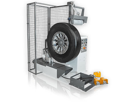 Máquina para limpeza de pneus